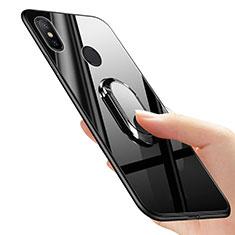 Coque Ultra Fine Silicone Souple avec Support Bague Anneau pour Xiaomi Mi Mix 2S Noir