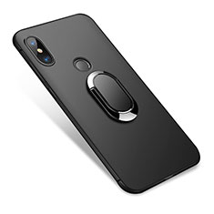 Coque Ultra Fine Silicone Souple avec Support Bague Anneau pour Xiaomi Redmi Note 5 Noir