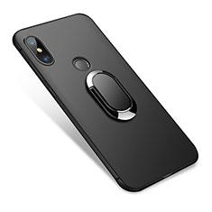 Coque Ultra Fine Silicone Souple avec Support Bague Anneau pour Xiaomi Redmi Note 5 Pro Noir