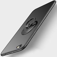 Coque Ultra Fine Silicone Souple avec Support Bague Anneau pour Xiaomi Redmi Note 5A Standard Edition Noir