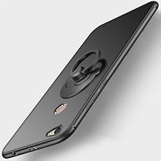 Coque Ultra Fine Silicone Souple avec Support Bague Anneau pour Xiaomi Redmi Y1 Noir