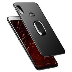Coque Ultra Fine Silicone Souple avec Support Bague Anneau pour Xiaomi Redmi Y2 Noir