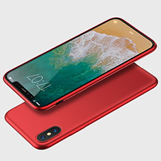 Coque Ultra Fine Silicone Souple C01 pour Apple iPhone Xs Rouge