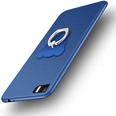 Coque Ultra Fine Silicone Souple et Support Bague Anneau pour Xiaomi Mi 3 Bleu