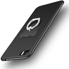 Coque Ultra Fine Silicone Souple et Support Bague Anneau pour Xiaomi Mi 3 Noir