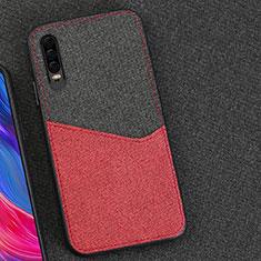 Coque Ultra Fine Silicone Souple Housse Etui 360 Degres Avant et Arriere M01 pour Huawei P30 Rouge et Noir