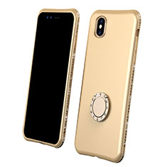 Coque Ultra Fine Silicone Souple Housse Etui 360 Degres Avant et Arriere pour Apple iPhone Xs Or