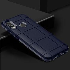 Coque Ultra Fine Silicone Souple Housse Etui 360 Degres Avant et Arriere pour Huawei P Smart (2019) Bleu