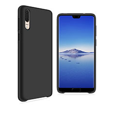 Coque Ultra Fine Silicone Souple Housse Etui 360 Degres Avant et Arriere pour Huawei P20 Noir
