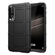 Coque Ultra Fine Silicone Souple Housse Etui 360 Degres Avant et Arriere pour Huawei P30 Noir