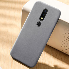 Coque Ultra Fine Silicone Souple Housse Etui 360 Degres Avant et Arriere pour Nokia 6.1 Plus Gris