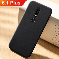 Coque Ultra Fine Silicone Souple Housse Etui 360 Degres Avant et Arriere pour Nokia 6.1 Plus Noir