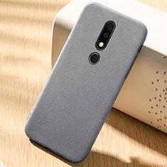 Coque Ultra Fine Silicone Souple Housse Etui 360 Degres Avant et Arriere pour Nokia X6 Gris