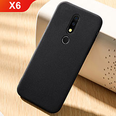 Coque Ultra Fine Silicone Souple Housse Etui 360 Degres Avant et Arriere pour Nokia X6 Noir