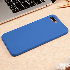Coque Ultra Fine Silicone Souple Housse Etui A01 pour Oppo R15X Bleu