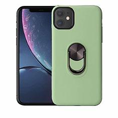 Coque Ultra Fine Silicone Souple Housse Etui avec Support Bague Anneau Aimante Magnetique A01 pour Apple iPhone 11 Vert