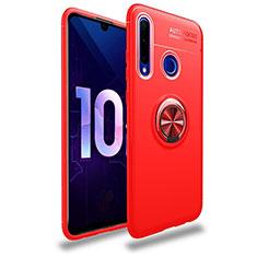 Coque Ultra Fine Silicone Souple Housse Etui avec Support Bague Anneau Aimante Magnetique A01 pour Huawei Honor 20 Lite Rouge