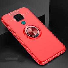 Coque Ultra Fine Silicone Souple Housse Etui avec Support Bague Anneau Aimante Magnetique A01 pour Huawei Mate 30 Lite Rouge