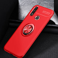 Coque Ultra Fine Silicone Souple Housse Etui avec Support Bague Anneau Aimante Magnetique A01 pour Huawei P Smart (2019) Rouge