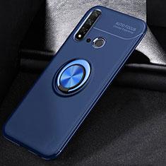 Coque Ultra Fine Silicone Souple Housse Etui avec Support Bague Anneau Aimante Magnetique A01 pour Huawei P20 Lite (2019) Bleu