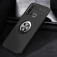 Coque Ultra Fine Silicone Souple Housse Etui avec Support Bague Anneau Aimante Magnetique A01 pour Huawei P20 Lite (2019) Noir