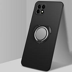 Coque Ultra Fine Silicone Souple Housse Etui avec Support Bague Anneau Aimante Magnetique A01 pour Oppo Reno4 SE 5G Noir