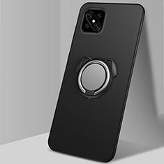 Coque Ultra Fine Silicone Souple Housse Etui avec Support Bague Anneau Aimante Magnetique A01 pour Oppo Reno4 Z 5G Noir