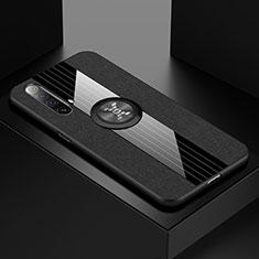 Coque Ultra Fine Silicone Souple Housse Etui avec Support Bague Anneau Aimante Magnetique A01 pour Realme X3 SuperZoom Noir