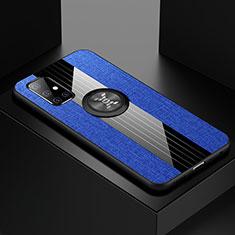 Coque Ultra Fine Silicone Souple Housse Etui avec Support Bague Anneau Aimante Magnetique A01 pour Samsung Galaxy A51 5G Bleu