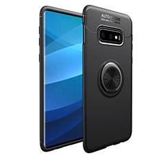 Coque Ultra Fine Silicone Souple Housse Etui avec Support Bague Anneau Aimante Magnetique A01 pour Samsung Galaxy S10e Noir