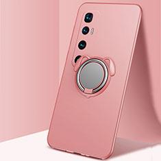 Coque Ultra Fine Silicone Souple Housse Etui avec Support Bague Anneau Aimante Magnetique A01 pour Xiaomi Mi 10 Ultra Or Rose