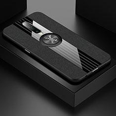 Coque Ultra Fine Silicone Souple Housse Etui avec Support Bague Anneau Aimante Magnetique A01 pour Xiaomi Poco X2 Noir