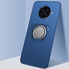 Coque Ultra Fine Silicone Souple Housse Etui avec Support Bague Anneau Aimante Magnetique A02 pour Oppo Ace2 Bleu