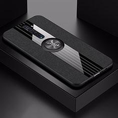 Coque Ultra Fine Silicone Souple Housse Etui avec Support Bague Anneau Aimante Magnetique A02 pour Oppo Reno2 Noir