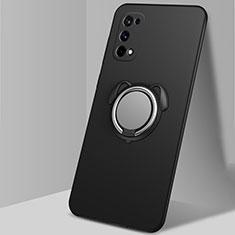 Coque Ultra Fine Silicone Souple Housse Etui avec Support Bague Anneau Aimante Magnetique A02 pour Realme X7 Pro 5G Noir