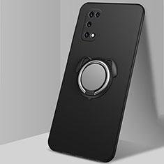 Coque Ultra Fine Silicone Souple Housse Etui avec Support Bague Anneau Aimante Magnetique A03 pour Oppo K7x 5G Noir