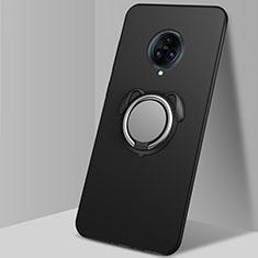 Coque Ultra Fine Silicone Souple Housse Etui avec Support Bague Anneau Aimante Magnetique A03 pour Vivo Nex 3 Noir