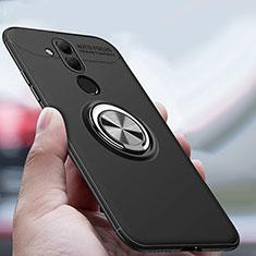 Coque Ultra Fine Silicone Souple Housse Etui avec Support Bague Anneau Aimante Magnetique A04 pour Huawei Mate 20 Lite Noir