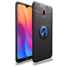 Coque Ultra Fine Silicone Souple Housse Etui avec Support Bague Anneau Aimante Magnetique A04 pour Xiaomi Redmi 8A Bleu et Noir