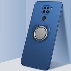 Coque Ultra Fine Silicone Souple Housse Etui avec Support Bague Anneau Aimante Magnetique G03 pour Xiaomi Redmi 10X 4G Bleu