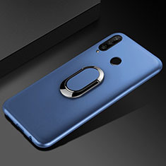 Coque Ultra Fine Silicone Souple Housse Etui avec Support Bague Anneau Aimante Magnetique pour Huawei Enjoy 9s Bleu