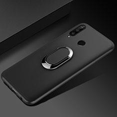 Coque Ultra Fine Silicone Souple Housse Etui avec Support Bague Anneau Aimante Magnetique pour Huawei Enjoy 9s Noir