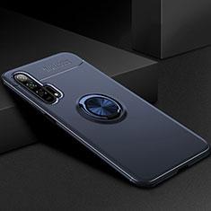 Coque Ultra Fine Silicone Souple Housse Etui avec Support Bague Anneau Aimante Magnetique pour Huawei Honor 20 Pro Bleu
