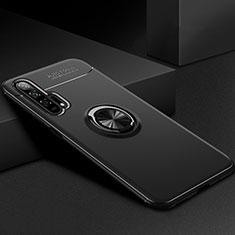 Coque Ultra Fine Silicone Souple Housse Etui avec Support Bague Anneau Aimante Magnetique pour Huawei Honor 20 Pro Noir