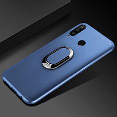 Coque Ultra Fine Silicone Souple Housse Etui avec Support Bague Anneau Aimante Magnetique pour Huawei Honor 20i Bleu