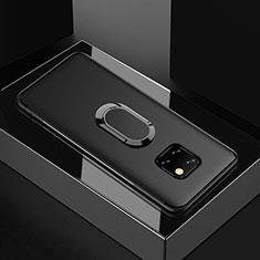 Coque Ultra Fine Silicone Souple Housse Etui avec Support Bague Anneau Aimante Magnetique pour Huawei Mate 20 Pro Noir