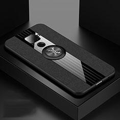 Coque Ultra Fine Silicone Souple Housse Etui avec Support Bague Anneau Aimante Magnetique pour Huawei Mate 30 Lite Noir