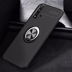 Coque Ultra Fine Silicone Souple Housse Etui avec Support Bague Anneau Aimante Magnetique pour Huawei Nova 5 Pro Noir