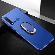 Coque Ultra Fine Silicone Souple Housse Etui avec Support Bague Anneau Aimante Magnetique pour Huawei P20 Lite (2019) Bleu