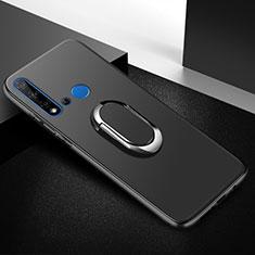 Coque Ultra Fine Silicone Souple Housse Etui avec Support Bague Anneau Aimante Magnetique pour Huawei P20 Lite (2019) Noir